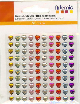Rhinestones Hearts Bright 11006285 -