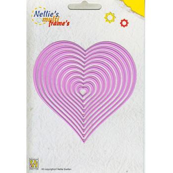 Nellies Multi Frame Dies - Straight Heart -