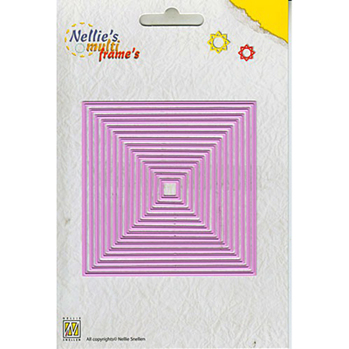 Nellies Multi Frame Dies - Straight Square -