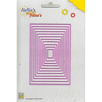 Nellies Multi Frame Dies - Straight Rectangle -
