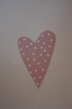 Klistermärke rosa med vita prickar -