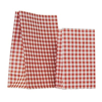 Rödrutig papperspåse 1 st -