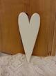 Nr 22 Hjärta i trä, vitmålat