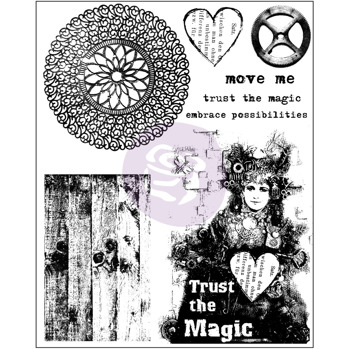 Prima Cling Stamps Trust The Magic  -