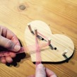 Rosettknytare i trä