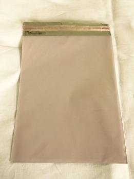 Cellofankuvert, 1 st, rosa metallic med klisterremsa -