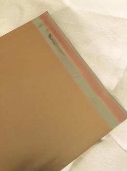 Cellofankuvert, 1 st, varm guldmetallic, med klisterremsa -