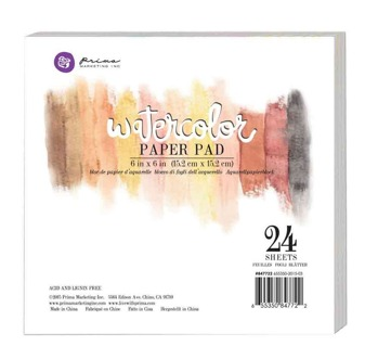 PRIMA MARKETING 6´X6´´ WATERCOLOR PAPER PAD 24PC 140LBS COLD PRESS -