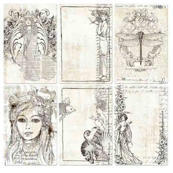 4x6 Pocket Paintable Cards - Bohemian 12/bag -