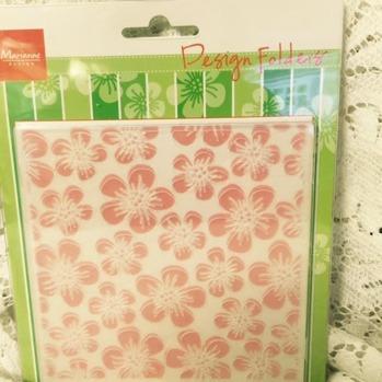 Embossingfolder blommor -