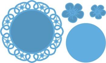 MARIANNE DESIGN FLOWER DOILY ARTIKELNUMMER: LR0388 -