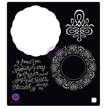 PRIMA MARKETING 6X6 STENCIL: VINTAGE EMPORIUM DOILY -