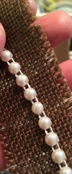 Pärlband 6 mm creme -