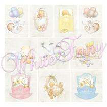 WF Klippark baby vagga blå och rosa