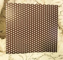 Brunt med Vita Prickar 6x6