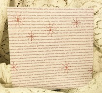 Jultext Röd 6x6