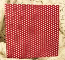 Rött med Vita Prickar 12x12