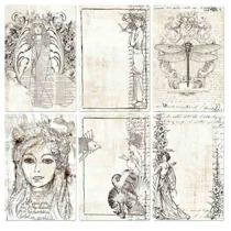 4x6 Pocket Paintable Cards - Bohemian 12/bag