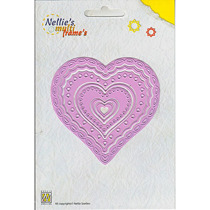 Nellies Multi Frame Die - Heart 2