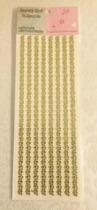 Rhinestones guld/gula