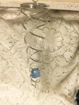 Vindsnurra med två kristaller/kulor 21 cm