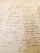 Papper natur med text, 75x60 cm