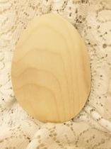 Ägg, träplatta, ca 13,5x10,5 cm, 6 mm tjockt
