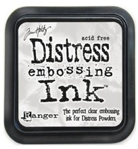 Distress embossing ink