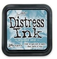 Distress ink stormy sky