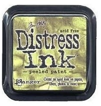 Distress ink peeled paint