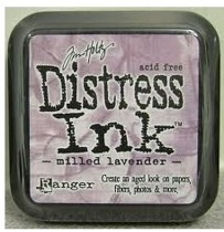 Distress ink milled lavender