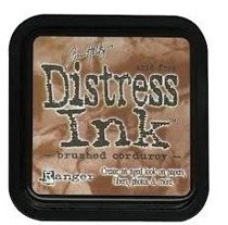 Distress ink brushed cordoruy