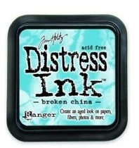 Distress ink brocken china