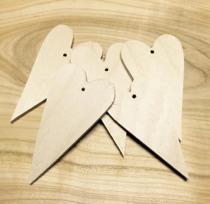 Nr 10 Trähjärtan 5-pack 4x7 cm 3 mm med hål
