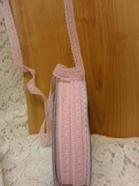 Spets rosa/vit