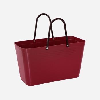 Väska liten vinröd Green plastic -