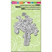 Stampendous Cling Stamp 7.75X4.5 - Sweet Pea Bouquet