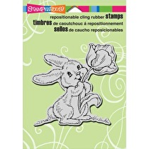 Stampendous Cling Stamp 4X4 - Tulip Bunny