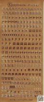 Guld - Stickers alfabet. Många bokstäver av varje på varje ark. Arket mäter 23 x 10 cm