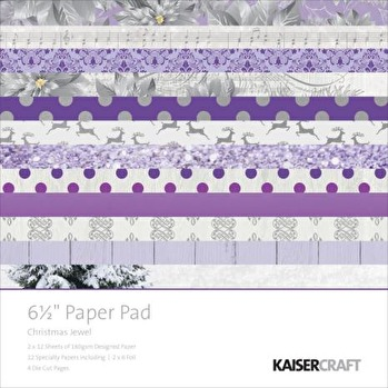 Kaisercraft Paper Pad 6.5X6.5 - Christmas Jewel -
