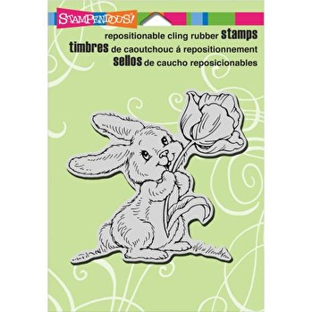 Stampendous Cling Stamp 4X4 - Tulip Bunny -