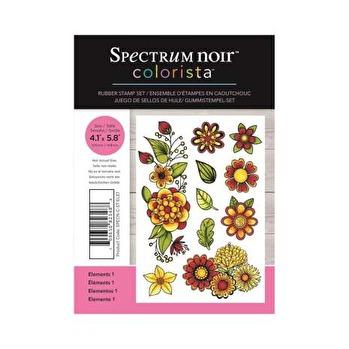 Spectrum Noir Colorista A6 Rubber Stamp - Elements 1 -
