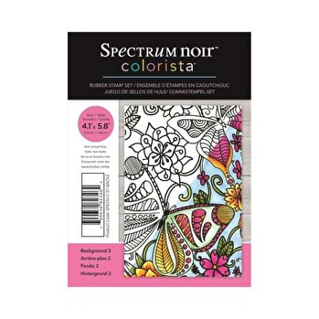 Spectrum Noir Colorista A6 Rubber Stamp - Background 2 -