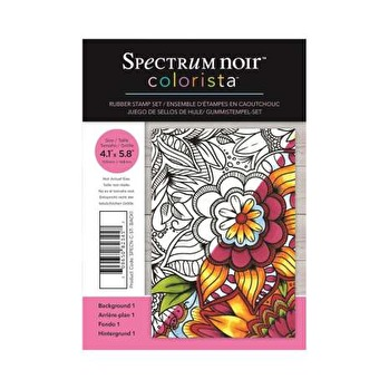 Spectrum Noir Colorista A6 Rubber Stamp - Background 1 -