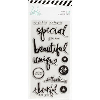 Heidi Swapp Magnolia Jane Clear Stamps - Special Words & Icons -