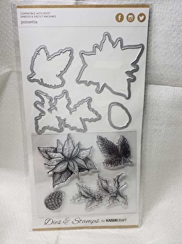 DD934 Die and stamp - Poinsettia -