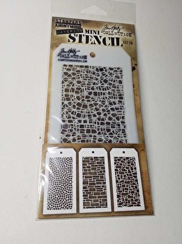 Tim Holtz Mini Layered Stencil Set 3/Pkg -