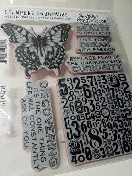 Tim Holtz Cling Stamps 7X8.5 inch ett ark med EZ-monterade stämplar -