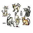 SIZZIX THINLITS CRAZY CATS BY TIM HOLTZ ARTIKELNUMMER: SX661209