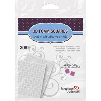 Scrapbook Adhesives 3L 3D Self-Adhesive Foam Squares 308/Pkg - White Mini -